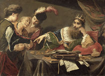 Croesus Receiving a Tribute from a Lydian Peasant von Claude Vignon