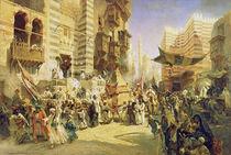 The handing over of the Sacred Carpet in Cairo von Konstantin Egorovich Makovsky