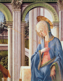 The Annunciation, detail of the Virgin Mary by Fra Filippo Lippi