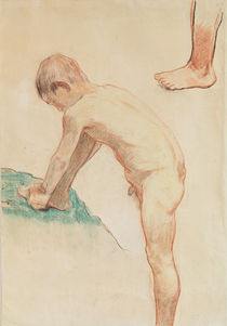 Study of a boy and a foot, 1888 by Paul Gauguin