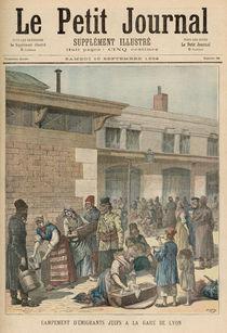 Jewish Refugee Camp in the Gare de Lyon von Henri Meyer