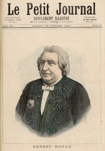 Ernest Renan, from 'Le Petit Journal' by Fortune Louis & Meyer, Henri Meaulle