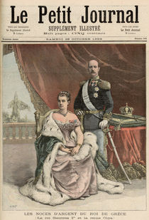 The Silver Wedding Anniversary of the King of Greece by Henri Meyer