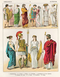 Greek Dress, from 'Trachten der Voelker von Albert Kretschmer