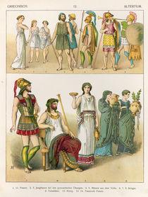 Greek Dress, from 'Trachten der Voelker' von Albert Kretschmer