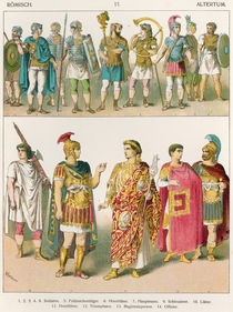 Roman Military Dress, from 'Trachten der Voelker' by Albert Kretschmer