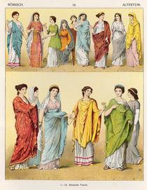 Female Roman Dress, from 'Trachten der Voelker' by Albert Kretschmer