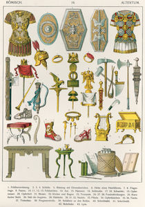 Roman Accessories, from 'Trachten der Voelker' by Albert Kretschmer