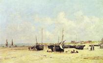 The Beach at Low Tide, Berck von Eugene Louis Boudin