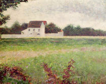 Landscape in the Ile-de-France by Georges Pierre Seurat