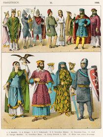 French Dress, c.1000, from 'Trachten der Voelker' von Albert Kretschmer