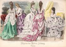 Ballgowns, fashion plate from the 'Allgemeine Moden-Zeitung' von French School