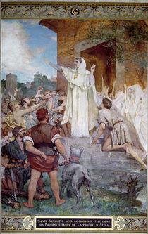 St. Genevieve Calming the Parisians on the Approach of Attila von Jules Elie Delaunay