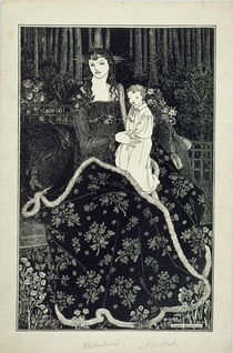 A large Christmas Card, 1895 von Aubrey Beardsley