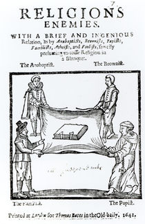 Religions Enemies, 1641 by English School