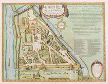 Map showing the Kremlin, Moscow von Joan Blaeu