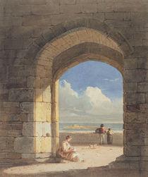 An Arch at Holy Island, Northumberland by John Varley