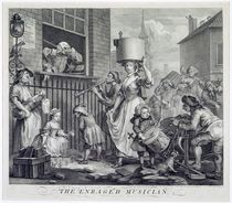 The Enraged Musician, 1741 von William Hogarth