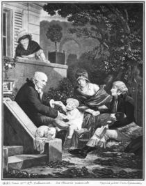 Joys of being a father, c.1797 von Philibert Louis Debucourt