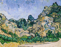The Alpilles, 1889 by Vincent Van Gogh