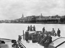Boatmen on the Rhone near Bourg Saint Andreal by French Photographer