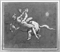 Centaur kidnapping a nymph by Theodore Gericault