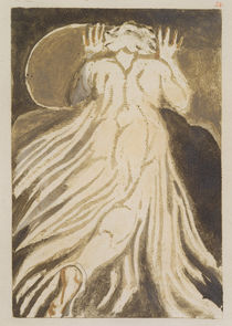 'A white haired man in a long by William Blake