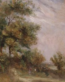 Landscape with Trees and Figures von Thomas Churchyard