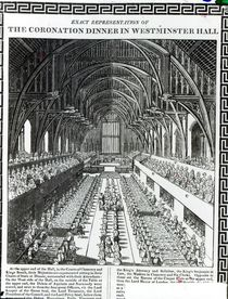 The Coronation Banquet in Westminster Hall by English School