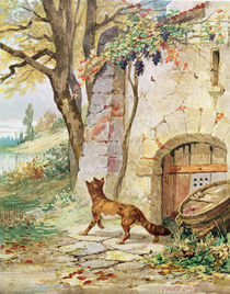 The Fox and the Grapes, illustration for 'Fables' by Jean de La Fontaine von Jules David