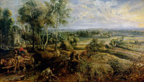An Autumn Landscape with a view of Het Steen in the Early Morning von Peter Paul Rubens