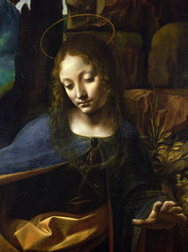 Detail of the Head of the Virgin von Leonardo Da Vinci