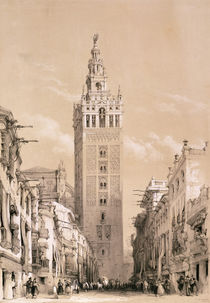 The Giralda, Seville, from 'Picturesque Sketches in Spain' by David Roberts