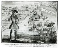 Captain Bartholomew Roberts with two ships von English School