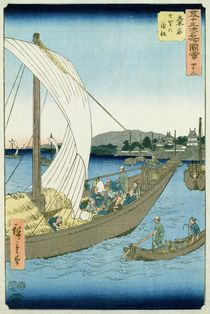 Kuwana Landscape, from '53 Famous Views' by Ando or Utagawa Hiroshige