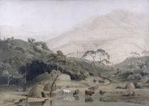 A Kaffir Village, c.1801 von Samuel Daniell