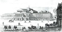 View of the Grand Theatre, Warsaw, engraved by Adam Pilinski by Antonio Corazzi