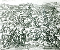 The Battle of Cajamarca, 1532 by Theodore de Bry