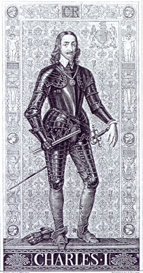 King Charles I, drawn by J.L.Williams and engraved by A.Bourne von Anthony van Dyck