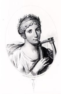 Portrait of Sappho von J.F. Cazenave