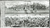 The city of Lisbon before, during and after the Earthquake of 1755 von German School