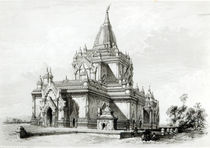North Eastern view of Gaudapalen Temple at Pagan by Henry Yule