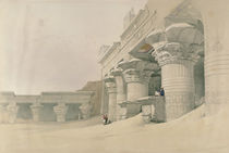 Temple of Horus, Edfu, from 'Egypt and Nubia' by David Roberts