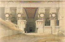 Facade of the Temple of Hathor by David Roberts