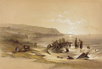 Caiphas looking towards Mount Carmel 24th April 1839 by David Roberts