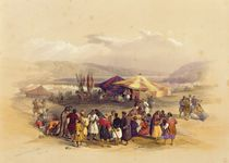 Encampment of the Pilgrims at Jericho' 1st April 1839 by David Roberts