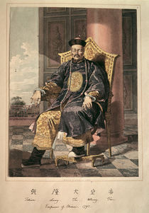 Portrait of Ch'ien-Lung Ti Emperor von Chinese School