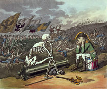 Napoleon and skeleton, 18th by Thomas Rowlandson
