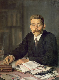 Portrait of the Author Maxim Gorky by Isaak Israilevich Brodsky