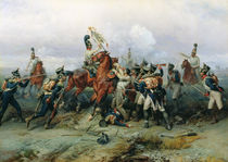 The Exploit of the Mounted Regiment in the Battle of Austerlitz by Bogdan Willewalde